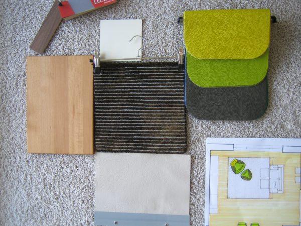 Materialcollage mit Teppich