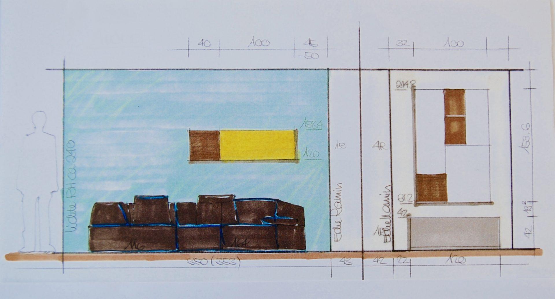 ott / Entwurf Sofa und Wohnwand