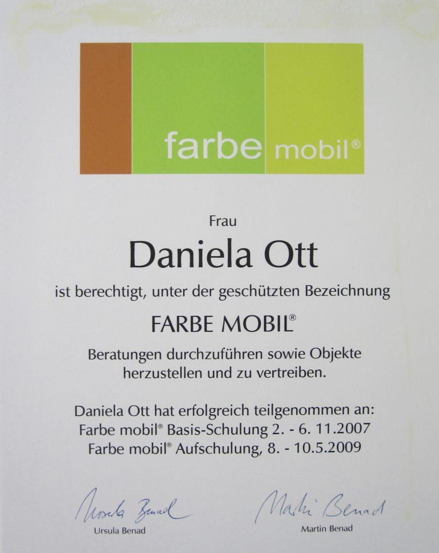 ott / Farbe Mobil Zertifikat