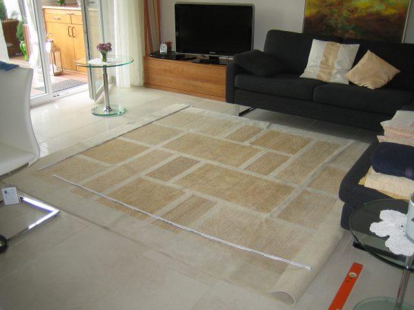 Teppich anprobieren
